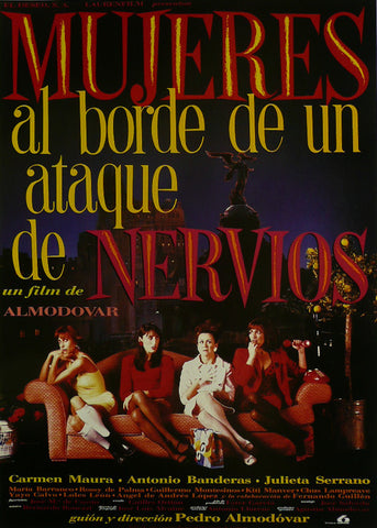 "Women on the Verge of a Nervous Breakdown - Antonio Banderas (Spanish) - Movie Poster Framed Picture 11""x14"""