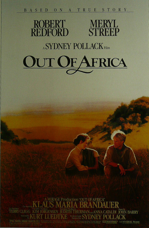 "Out of Africa - Robert Redford - Movie Poster Framed Picture 11""x14"""