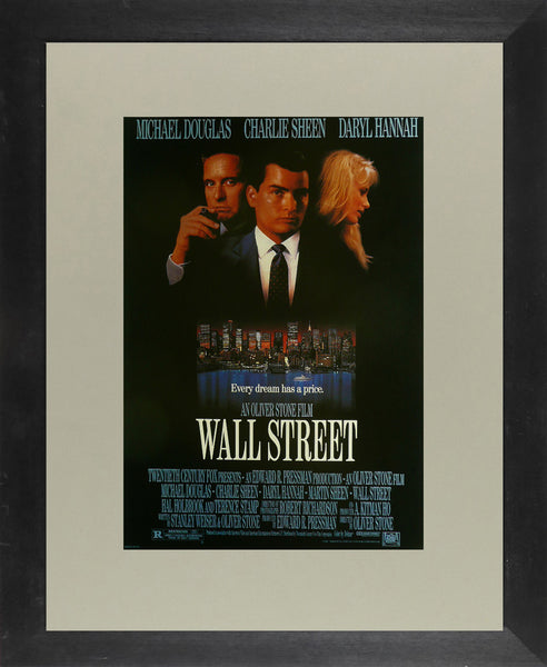Wall Street Michael Douglas / Charlie Sheen Movie Poster