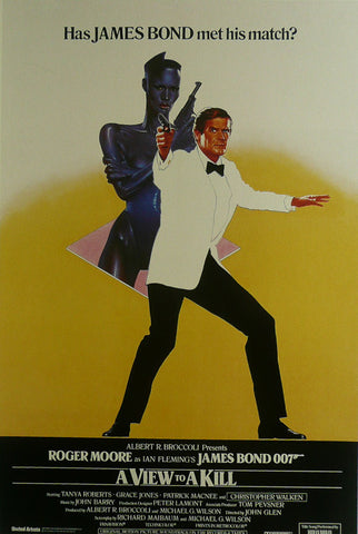 A View to a Kill (James Bond) Roger Moore Movie Poster
