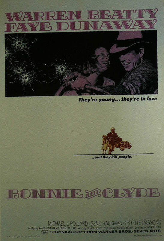 Bonnie-&-Clyde---Warren-Beatty-/-Faye-Dunaway---Movie-Poster