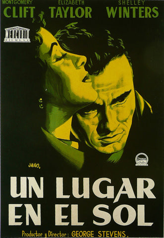 A-Place-in-the-Sun---Montgomery-Clift-/-Elizabeth-Taylor-(Spanish)---Movie-Poster