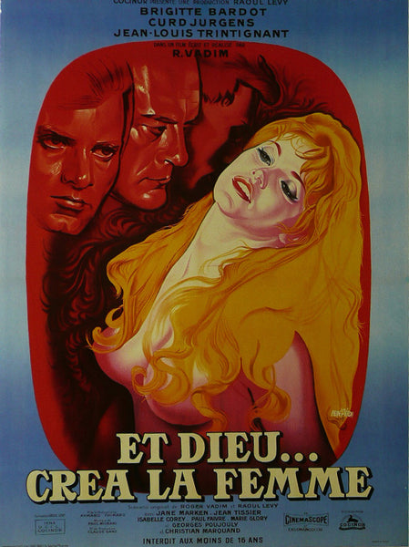 And-God-Created-Woman---Brigitte-Bardot-(French)---Movie-Poster
