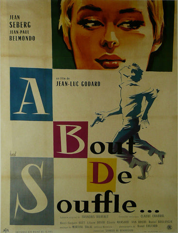 A-bout-de-souffle---Jean-Seberg-(French)---Movie-Poster