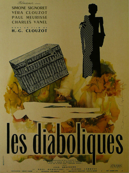 Les-Diaboliques---Simone-Signoret-(French)---Movie-Poster