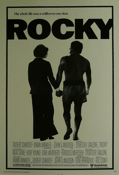 Rocky Syvester Stallone Talia Shire Movie Poster