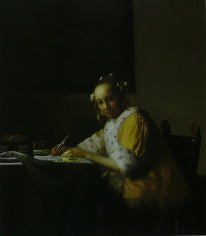 A Lady writing Vermeer
