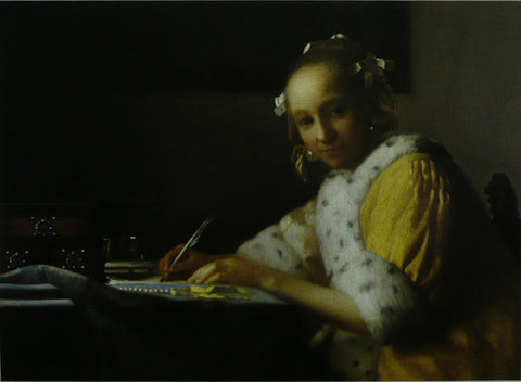 A Lady writing (Detail) Vermeer