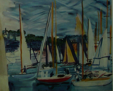 Basin of Deauville 1935 Raoul Dufy