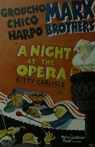 A Night at the Opera The Marx Brothers Movie Poster