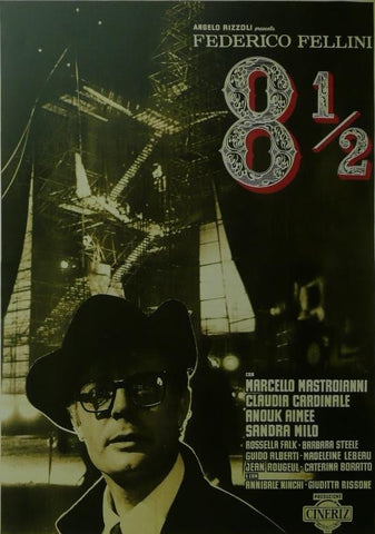 8 and a Half (2) Marcello Mastroianni (Italian) Movie Poster Framed Picture