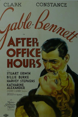 After Office Hours Clark Gable Movie Poster Framed Picture