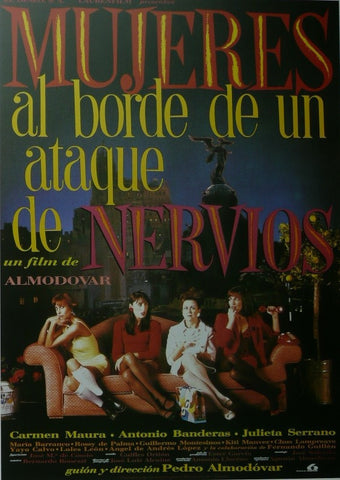 Women on the Verge of a Nervous Breakdown  (Spanish) Carmen Maura / Antonio Banderas Movie