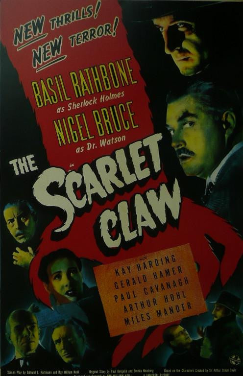 The Scarlet Claw (Sherlock Holmes) Basil Rathbone / Nigel Bruce Movie Poster Picture