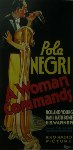 A Woman Commands Ronald Young / Basil Rathbone Movie Poster Picture