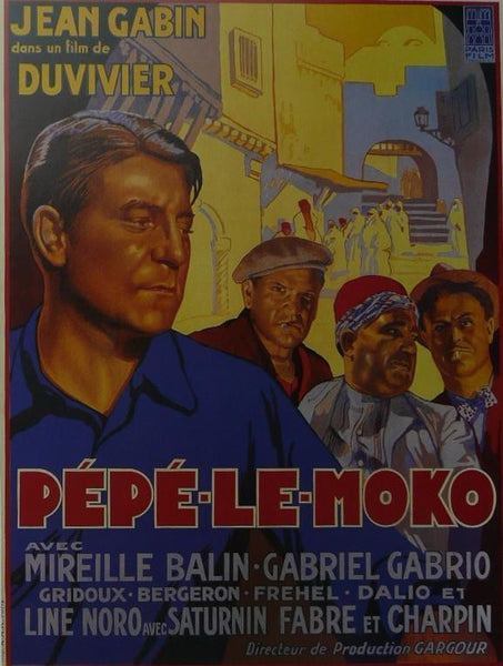 Pepe le Moko Jean Gabin (French) Movie Poster Picture