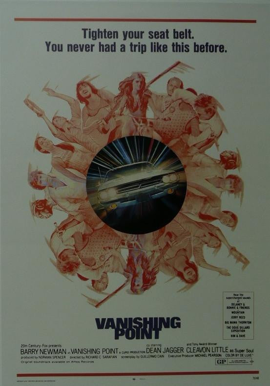 Vanishing Point (2) Barry Newman / Dean Jagger Movie Poster Picture