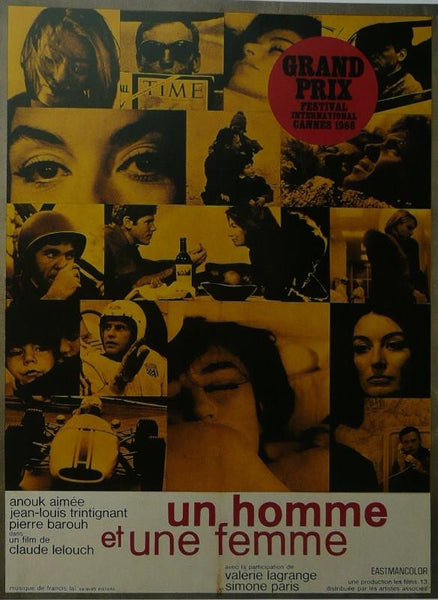 Un homme et une femme (3) Anouk Aimee (French) Movie Poster Picture