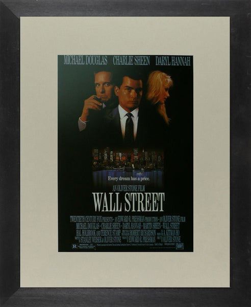 Wall Street (2) Michael Douglas / Charlie Sheen Movie Poster Picture