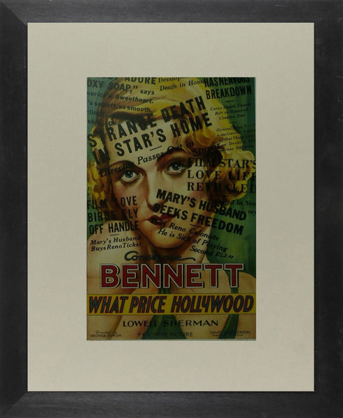 What price Hollywood? Constance Bennett Movie Poster Picture