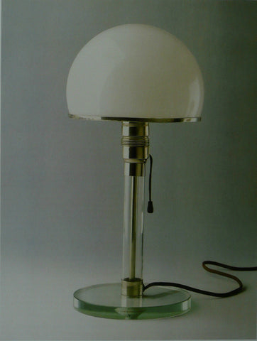 Carl Jucker Glass domed table lamp (Bauhaus)