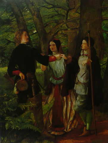 A scene (the Mock Marriage of Orlando and Rosalind) from As you Like It Walter Howell Deverell