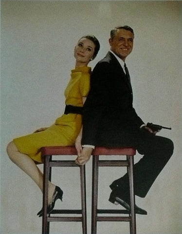 Audrey Hepburn and Cary Grant Charade