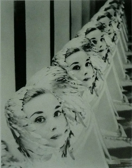 Audrey Hepburn Feathered Mirror