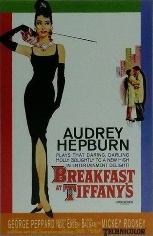 Audrey Hepburn Breakfast at Tiffany's Movie Poster