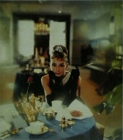 Audrey Hepburn Breakfast at Tiffany's scene
