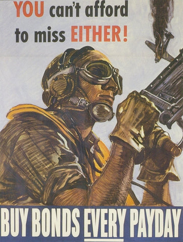 "Airforce ""Buy Bonds Every Payday"" American WWII Propaganda Poster"