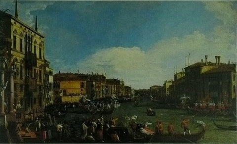 A Regatta on the Grand Canal Canaletto