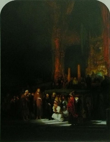 Christ and the woman taken in Adultery Rembrandt van Rijn