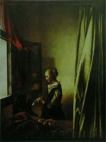 A girl reading at an open window Johannes Vermeer