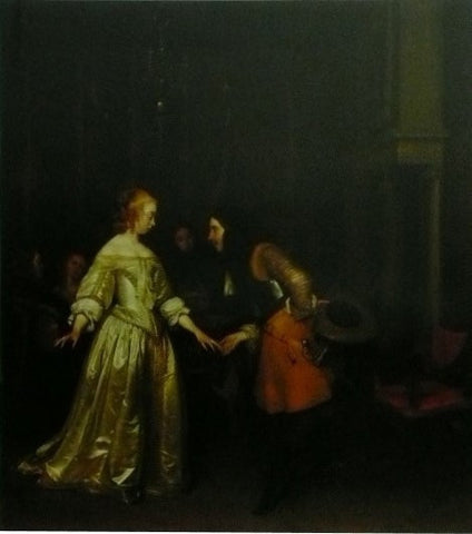 A dancing couple Gerard ter Borch