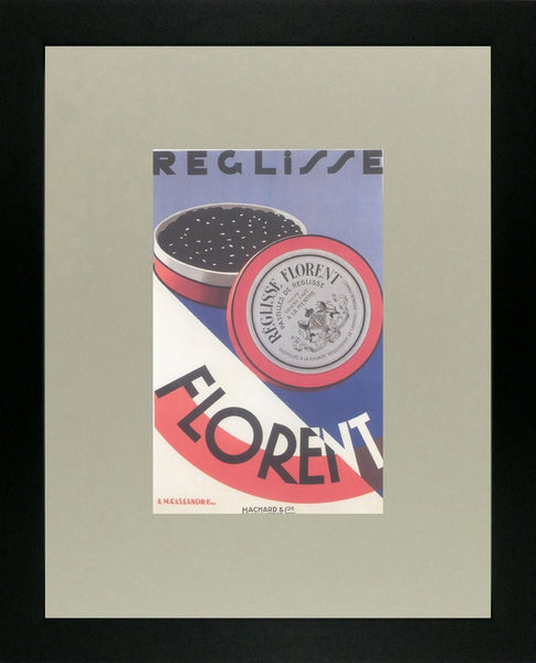 Reglisse Florent 1925 Cassandre (Art Deco Advert)