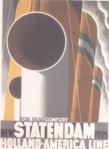 Statendam Holland America Line 1928 Cassandre (Art Deco Advert)