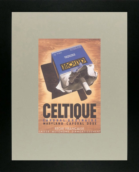 Celtique Caporal Ordinaire 1934 Cassandre (Art Deco Advert)