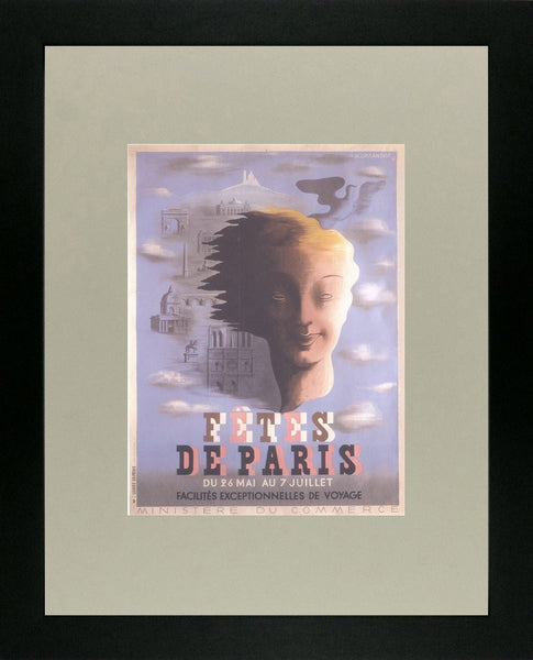 Fetes de Paris 1935 Cassandre (Art Deco Advert)