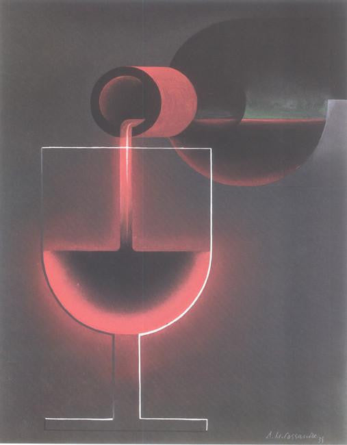 Nicholas (Wine being poured into a glass) 1935 Cassandre (Art Deco Advert)