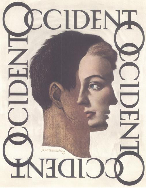Occident 1947 Cassandre (Art Deco Advert)