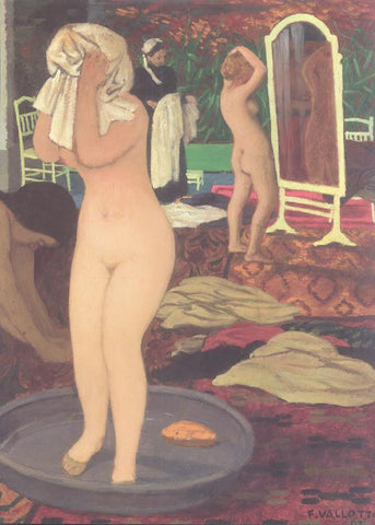 2 nudes getting washed & dressed Felix Vallotton