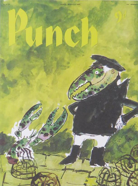 Punch Cartoon Art Avant Garde Crab Quentin Blake (1959)