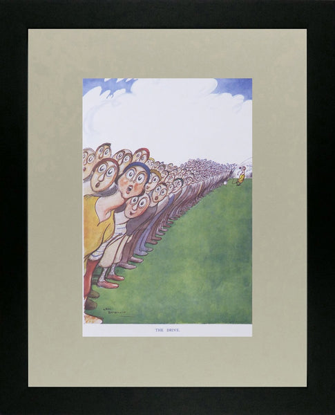 Punch Cartoon Art The Drive (Golf) Henry Mayo Bateman (1932)