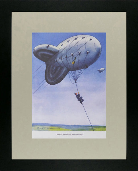 Punch Cartoon Art I knew I'd hung the darn thing somewhere (Blimp) Harold William Hailstone (1940)