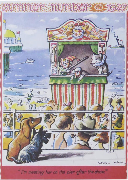 Punch Cartoon Art I'm meeting her on the pier after the show Mervyn Wilson (1947)