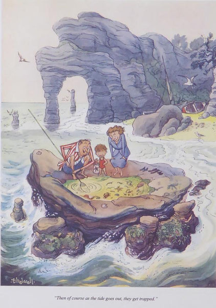 Punch Cartoon Art Then of course as the tide goes out Norman Thelwell (1953)