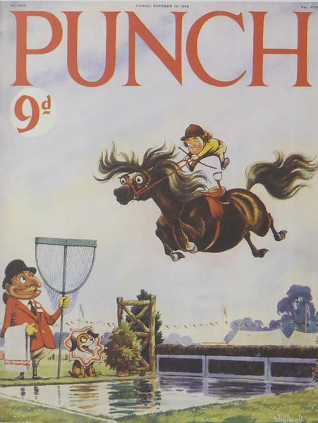 Punch Cartoon Art Cover Art Horse Jumping Norman Thelwell (1956)