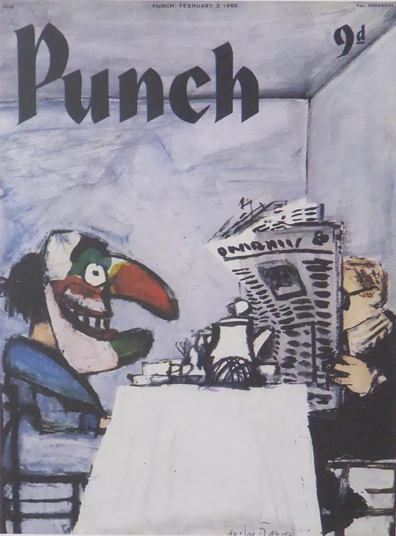 Punch Cartoon Art Cover Art Andre Francois (1960)