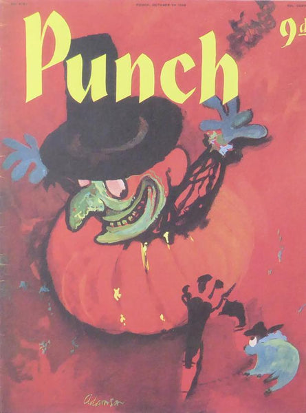 Punch Cartoon Art Cover Art Red pumpkin man George Adamson (1958)